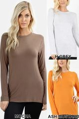 Heather Gray Long Sleeve Top (T144)