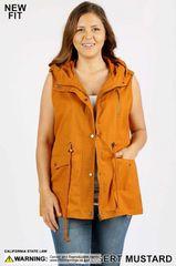Plus Size Desert Mustard Vest (SDB478)