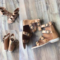 Camel Buckle Gladiator Sandals (SDB176)