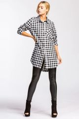 Black/White Plaid Tunic (SDB504)