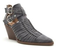 Charcoal Buckle Bootie (SDB300)