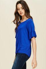 Black/Royal Blue Knit Topw/Bell Sleeves (SDB108)
