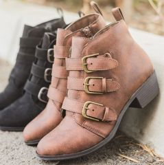 Brown Buckle Bootie (SDB491)
