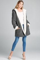 Dark Grey Reversible Hooded Coat (SDB289)