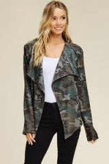 Olive Camo Waterfall Jacket (SDB261)