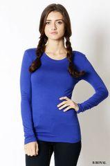 Royal Blue Long Sleeve Rayon Top (T157)