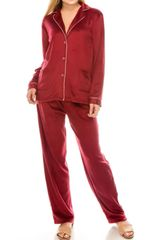 Burgundy/Navy/Pink Fleece PJ Sets (SDB463)