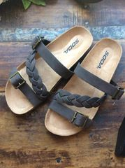 Dark Brown Sandal w/Buckle