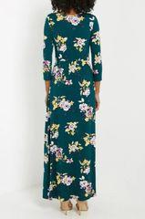 Forest Floral Faux Wrap Maxi Dress (D22)