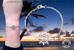 Saltwater Stud Nautical Ships Wheel Bracelet