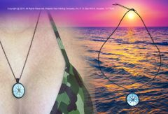 Saltwater Stud Nautical Compass Necklace