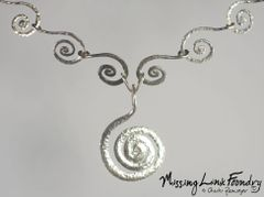 Sterling Large Serpantine Spiral Necklace