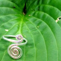 Silver Infinite Spiral Ring with Custom Variation