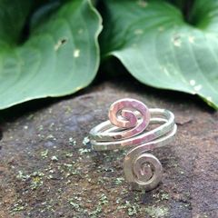 Double Sterling Spiral Ring with Custom Variation