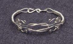 Silver Spiral Knot Bracelet or Anklet