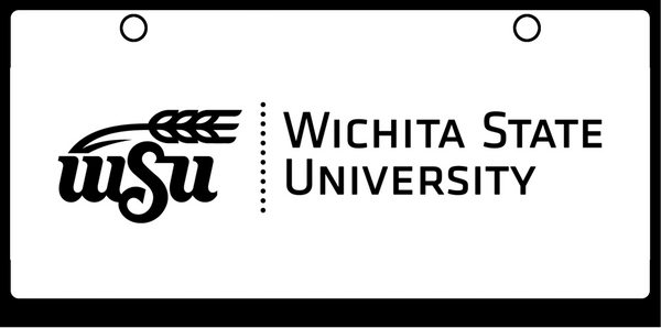 Wichita State Logo Black on White