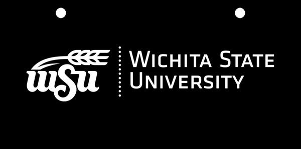 Wichita State Logo White on Black