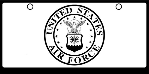 US Air Force Seal Black On White