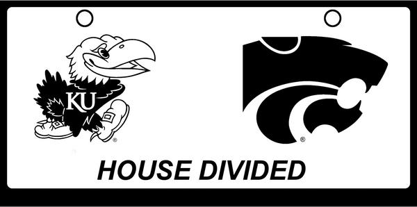 House Divided KSU / KU Black on White