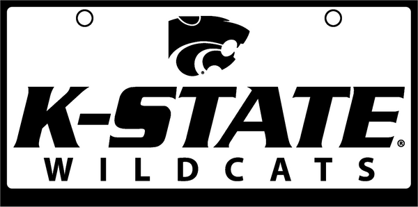 K-State Wildcats Black on White with Powercat