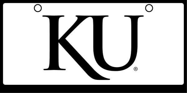 University of Kansas KU Black on White Background
