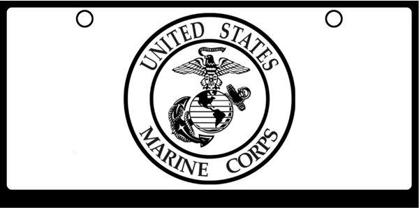 US Marine Corps Seal Black On White