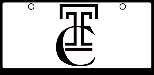 "Trinity Catholic ""TC"" Black on White"