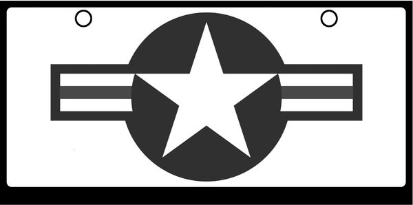 US Air Force Logos Grayscale on White