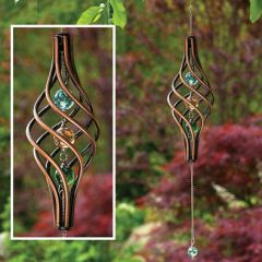 Copper triple marble Wind Spinner