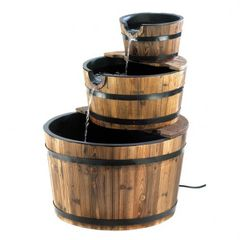 Outdoor Apple Barrel Fountains