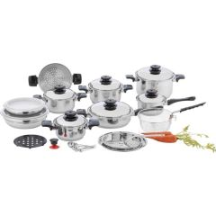 Chef's Secret 12-Element, High-Quality, Heavy-Duty Stainless Steel Cookware Set s
