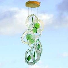 Recycled Glass Bottle Wind Chimes