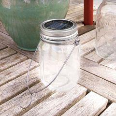 Solar Glass Mason Jar Light