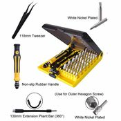 Magnetic Precision Screwdriver Set w/ 42 Bits