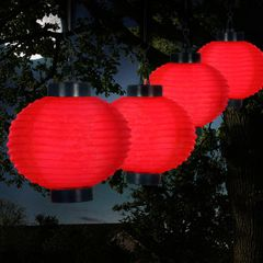 Outdoor Solar Chinese Lanterns - LED Sizes and Colors