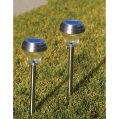 Solar Brushed Nickel LED Path Lights (2)