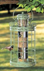 Caged Hanging Bird Feeder