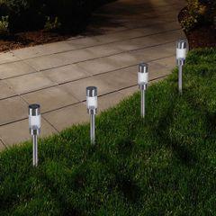 Garden Outdoor Sleek Solar Lights (Set of 6)