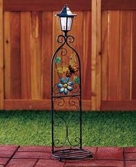 Solar Lamp Plant Stand
