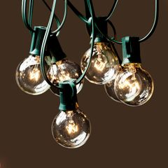 Globe String Lights with Clear Bulbs Set of 25