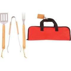 4pc Stainless Steel Barbeque Tool Set