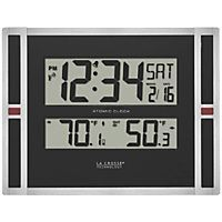Atomic Clock Indoor/Outdoor Temperature With Trend Arrow