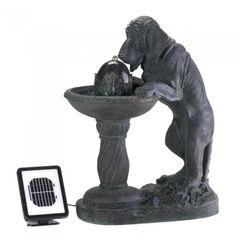 Thirsty Dog Solar Garden Fountain