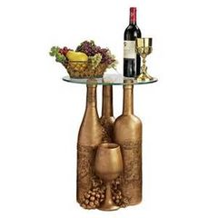 Wine and Dine Sculptural Glass Top Table