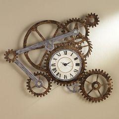 Industrial Gears Wall Art Clocks