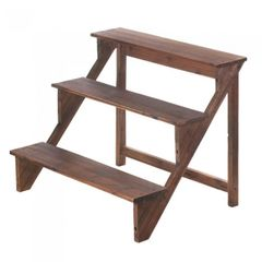 3 tier wood Step Plant Stand