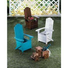 Wood Adirondack Chair Planter