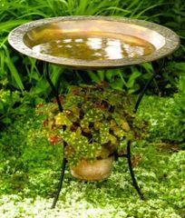 Copper Plated Steel Birdbath