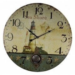 "23"" Wooden Sea Clocks"