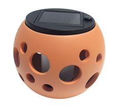 SolarRound Ceramic Pot